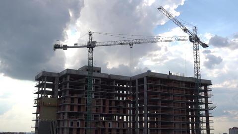 Construction Cranes Timelapse Live Action