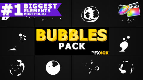 Flash FX BUBBLE Elements Apple Motion Template