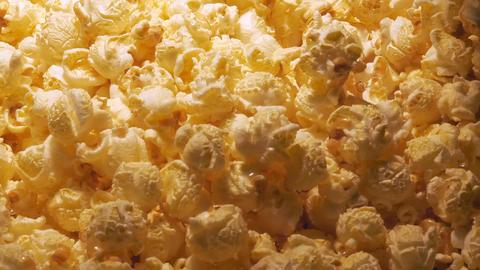 Close up shot of fresh roasted popcorn Footage