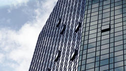 Glass Building Facade and Clouds Drifting Live Action