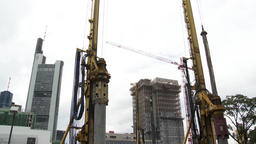 Construction Work Site Panorama Live Action