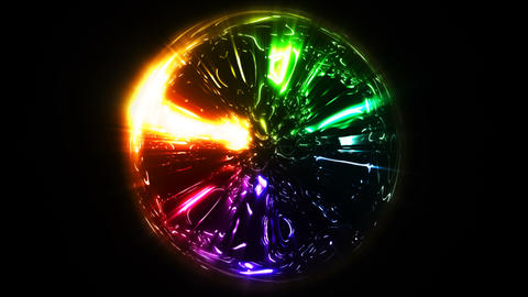 Sphere particles Animation