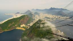 Idyllic view of Brazilian coastline from Sugarloaf Mountain Stock Video Footage