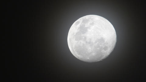 Shot of full moon in the night sky Footage