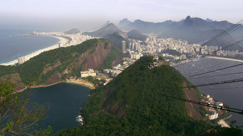 Shot of Rio de Janeiro as seen from the Sugarloaf Mountain in Brazil Footage