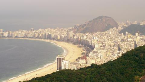 Beautiful shot of the Rio de Janeiro coastline in Brazil Footage