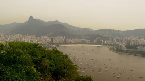 Lagoa Rodrigo de Freitas aerial shot in Rio de Janeiro, Brazil Live Action