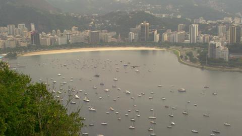 Lagoa Rodrigo de Freitas aerial view in Rio de Janeiro, Brazil Live Action