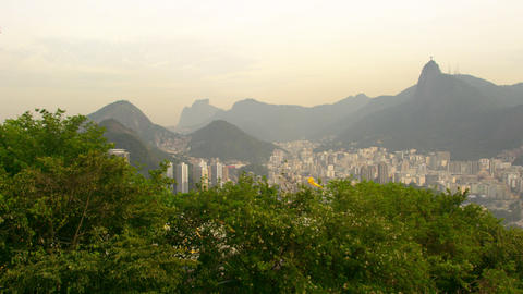 Aerial view of Rio de Janeiro, Brazil from the mountain Live Action