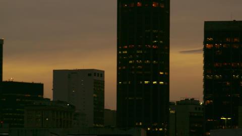 Panning shot of the cityscape of Rio de Janeiro, Brazil Footage