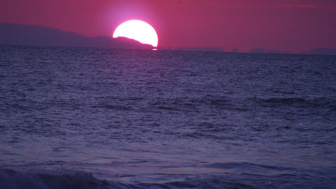 Sunset at the Costa Rican coastline Footage