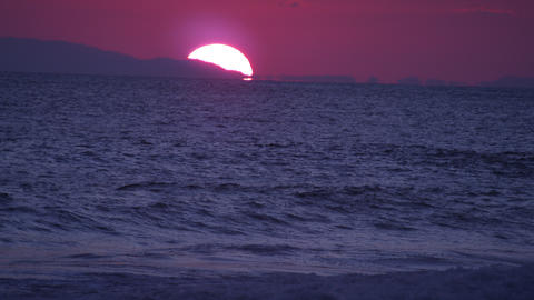 The sunset along the coast in Costa Rica Live Action
