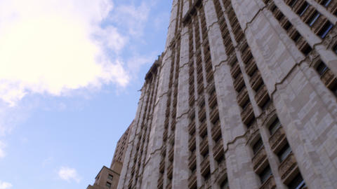 Tracking shot of skyscaper in NYC Footage