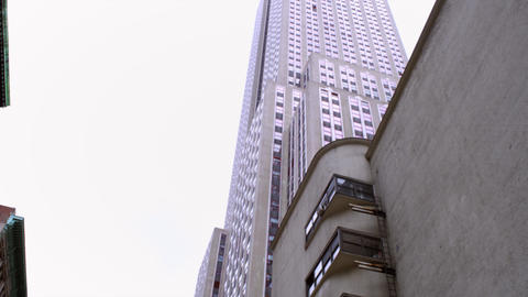 Pan and tilt shot of empire state building Footage