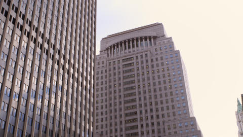 Shot of building with Empire state buidling Footage