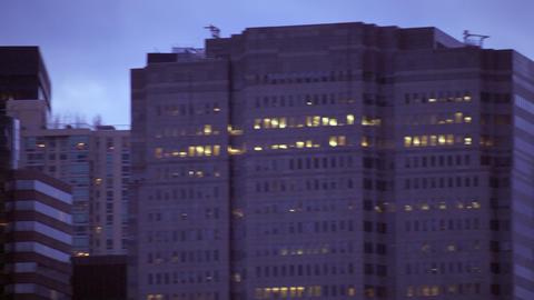 Panning shot of new york city skyline Footage