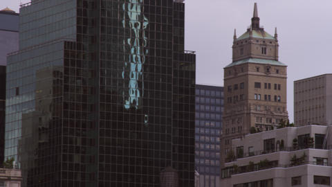 Panning shot of architecture in New York City Footage