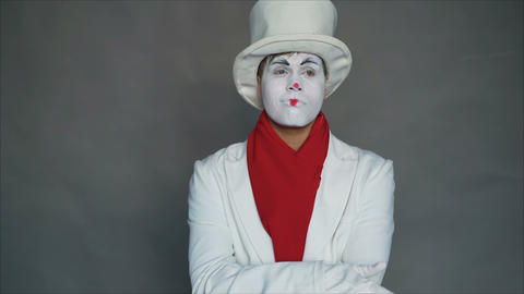 Emotion of doubt.. Mime in doubt Footage