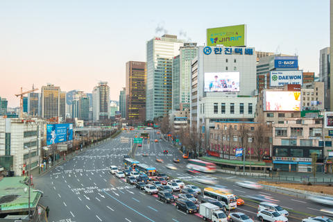 Seoul city traffic in Korea Photo