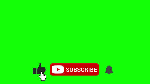 Like Subscribe Ring Bell Lower Third on Green Screen Animation