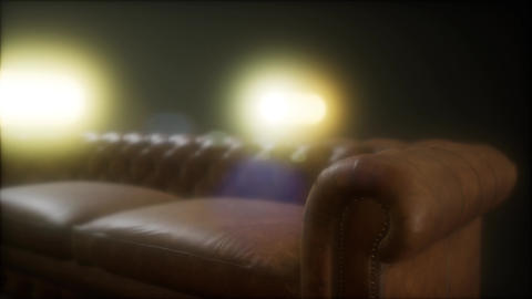 detail of classic upholstered furniture Footage