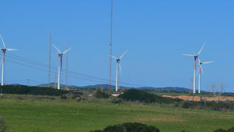 wind turbines in a field Live Action