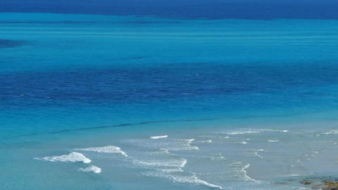 blue and turquoise sea water Footage