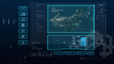 Hud infographics Hi-Tech v8 preRendered After Effects Template
