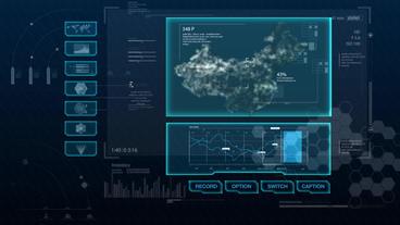 Hud infographics Hi-Tech v8 preRendered - 5