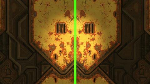 Animation - Metal Door Opening To Green Screen Animation