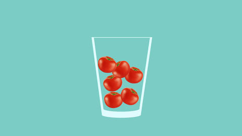 Fresh fruit cocktail animation Stock Video Footage