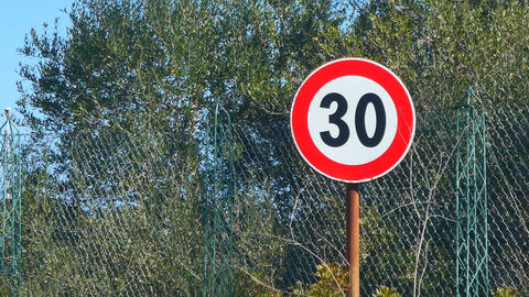 speed limit sign in the country Footage