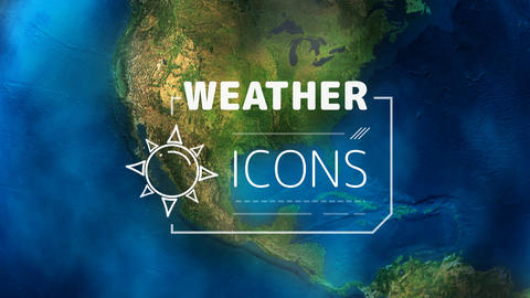 Weather Forecast Icons After Effects Template