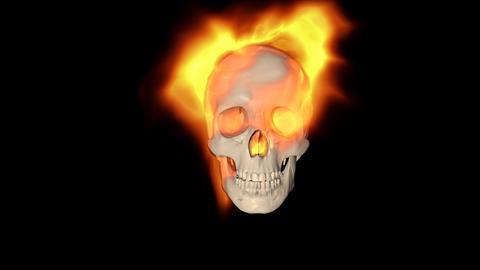 Skull Burning Transition Animation