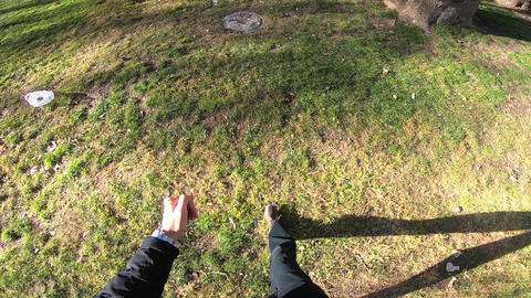 walking in the park Abu Ali Sina tomb Footage