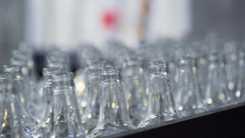 Glass Bottle Factory Transporter Belt Live Action
