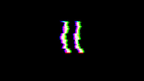 From the Glitch effect arises Roman numerals II. Then the TV turns off. Alpha channel Premultiplied Animation