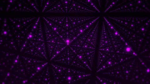 Inside a 3D Cube of Purple Glowing Dots VJ Loop Motion Background Animation