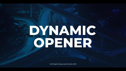 Dynamic Opener After Effects Template