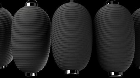 Black paper lantern on black background Animation