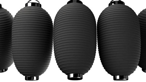 Black paper lantern on white background CG動画