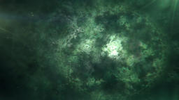 Abstract Green Fractal Circles Cosmic Clockwork Slowly Morphing Animation