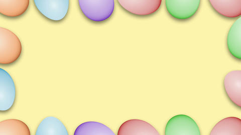 Easter eggs border frame Animation