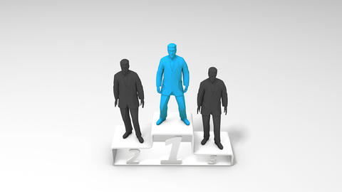 Concept animation winning businessman Footage