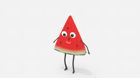Children video animation, dancing Watermelon Live Action