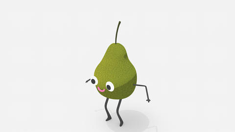 Children video animation, dancing Pear Live Action