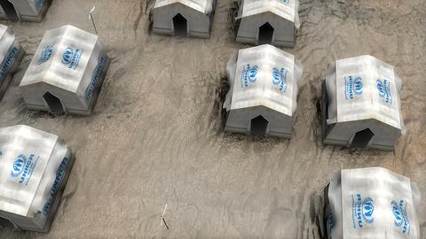 Editorial UNHCR refugee camp Live Action