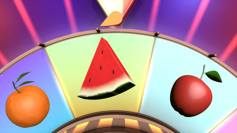Children video animation, Wheel of fruit Strawberry Live Action