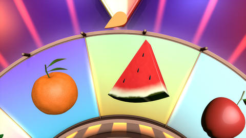 Children video animation, Wheel of fruit Blueberry Live Action