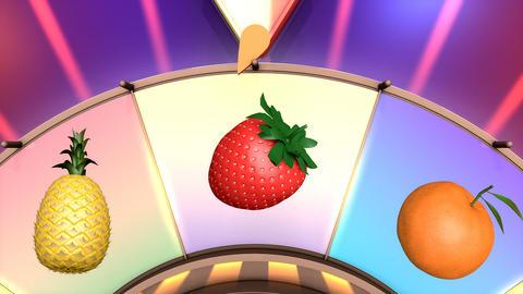 Children video animation, Wheel of fruit Live Action